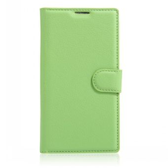 Harga Wallet Flip Leather Case Cover For Alcatel Flash 2/Alcatel OneTouch Flash 2 (Green) - intl