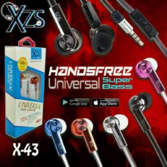 Harga Yarden Universal X-43 Stereo Super Bass Headsfree Excellent Sound Quality With Mic - warna random