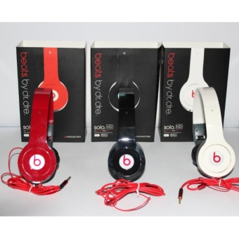 Harga Headphone SOLO HD Beats By Dr Dre - Red