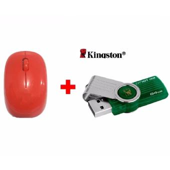 Harga Kingston Flash Disk 64GB + Gratis Mouse Wireless