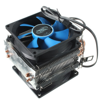 Harga Dual Fan CPU MIni Cooler Heatsink for Intel LGA775/1156/1155 AMD AM2/AM2+/AM3 (Blue/Black)- intl