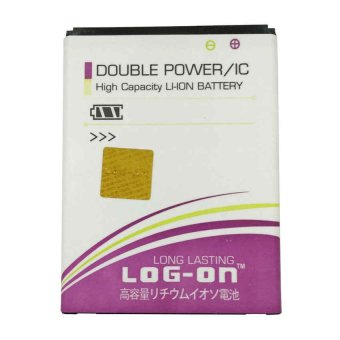 Harga Log On Battery Baterai Double Power Evercoss A65 / ONE X - 3400mah