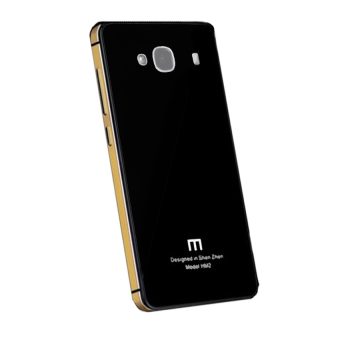 Harga Hardcase Aluminium Tempered Glass Series For Xiaomi Redmi 2 Prime - Black Gold