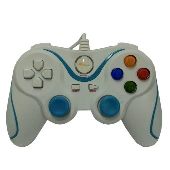 Harga XTech Gamepad Single USB PC Game Controller High Quality Performance - Putih