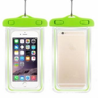 Harga LALANG Waterproof Mobile Phone Bag Dry Case Cover Luminous Pouch for IPHONE 4 4S 5 5S 6 6S PLUS (Green)