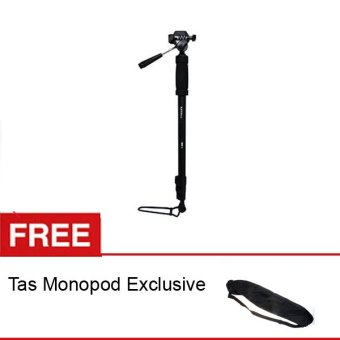 Harga Excell Monopod Mono-006 with Pan Head for Canon + Gratis Tas Monopod Exclusive