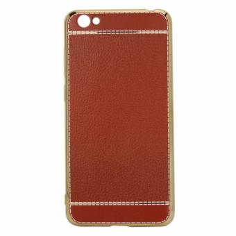 Harga Casing VIVO Y55 Leather chrome