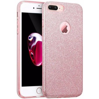 "Harga iPhone 7 Plus Case, GiMi Luxury Glitter Sparkle Bling Designer Case Slim Fit, Hard Back Cover Shining Fashion Style for Apple iPhone 7 Plus 5.5"" (Rose Gold) - intl"