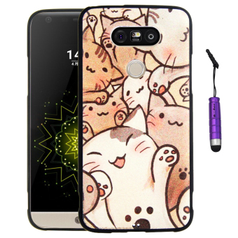Moonmini Silicone Soft Back Case for LG G5 (Multicolor)