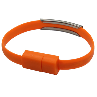 Harga M-Tech Kabel Charger Data Usb Micro Gelang - Orange