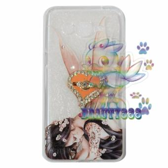Beauty Case For Samsung Galaxy J2 Prime Softshell Swarovski Animasi Fairy Girls + Holder Ring Love