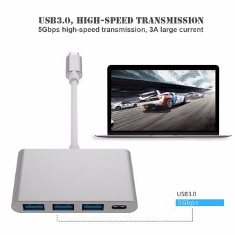 "Harga LYBALLUSB3.0 High Speed USB 3.1 Type-C to USB-C USB3.0 3 Ports Type C To USB 3.0 HUB Adapter for Apple New MacBook 12"" New MacBook Pro 13"" 15"" Google Chromebook Pixel - intl"