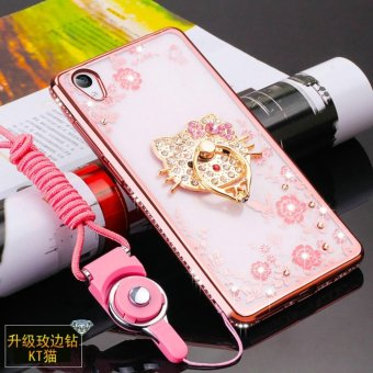 Harga Secret Garden Diamond TPU Back Case Cover For VIVO Y51 (KT Cat Rose Gold) - intl