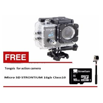 Harga Kogan Action Camera 4K UltraHD - 16MP - Hitam - WIFI- Free Strontium 16 GB - Tongsis