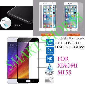 Smart Full Cover Tempered Glass Warna for Xiaomi Mi5s - Hitam