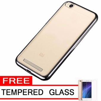 AIRCASE ROSE TEMPERED GLASS. Softcase Silicon Jelly Case List Shining Chrome for .