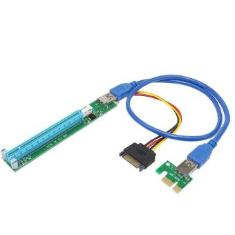 Kitbon PCI-E 1X to 16X Riser Adapter Card USB 3.0 Extender Cable - intl