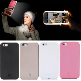 Harga For iPhone 6 6S Luxury LED Light Up Selfie Luminous Phone Back Cover Case Pink - intl