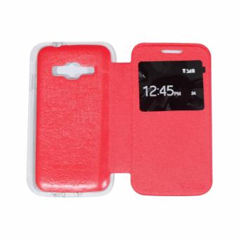 Harga AIMI Samsung Galaxy J1 Mini Prime V2 Flipcover / Flipshell / Sarung Case / Sarung HP / Leather Case Syntetic - Merah