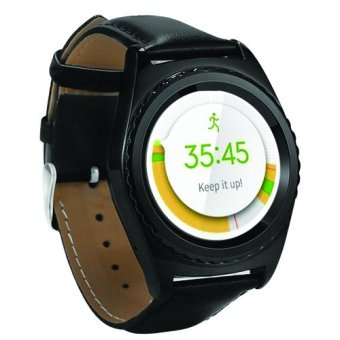 Harga Cognos Smartwatch G4 Heart Rate Monitor GSM Sim Card Leather - Hitam