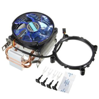 Harga 3Pin Copper LED CPU Cooler Fan Heatsink for Intel LGA775/1156/1155 AMD AM2/AM2+ - intl