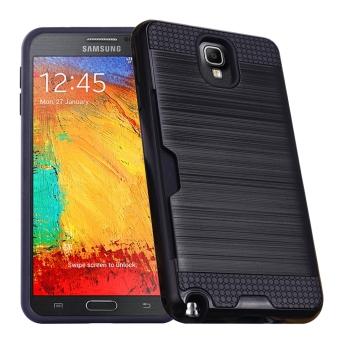 RUILEAN Case Untuk Samsung Galaxy Note 3 N9000 lapis ganda TPU + PC tahan guncangan Slot