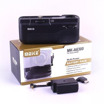 Harga Meike MK-A6300 Vertical Multi Power Battery Hand Grip for Sony A6300 A6000 Camera - intl