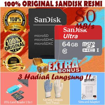 Original SanDisk Ultra MicroSDHC 80MB s 64GB Class 10 UHS 1 With Micro .
