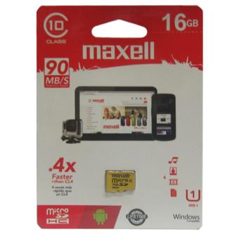 Harga Maxell MicroSDHC 16GB Class 10 UP TO 90MB/S