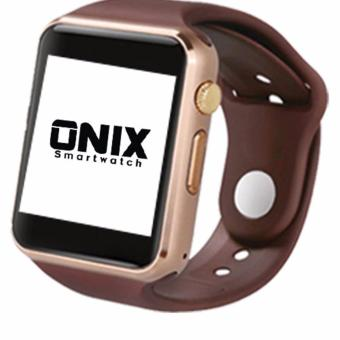 Harga Onix Smartwatch - A1 / U10 Apple Watch Look Like - Emas tali Coklat