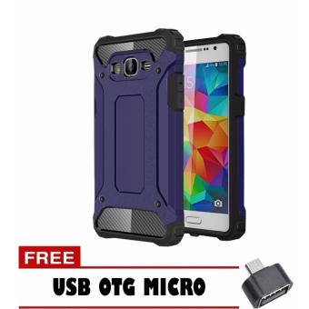 Case Tough Armor Carbon for Samsung Galaxy J5 - Biru Dongker + Free Usb Otg Micro