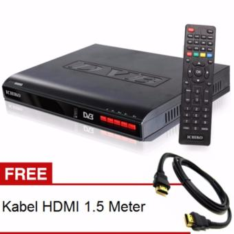 Harga Ichiko DV 8000HD Set Top Box DVB T2 Tv Digital Receiver + Kabel HDMI