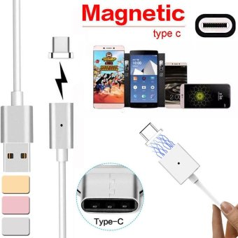 Harga Magnetic USB Charger Cord Sync Data Cable Type-C For Android Silver - intl
