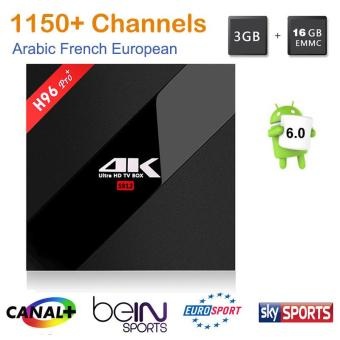 Harga H96 Pro Android 6.0 TV Box Amlogic S912 Octa Core Android 6.0 3G RAM 16G ROM LAN Bluetooth Dual Band WIFI 3D/4K Smart TV BOX - intl