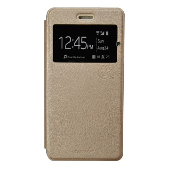 Harga Smile Flip Cover LG K8 - Gold