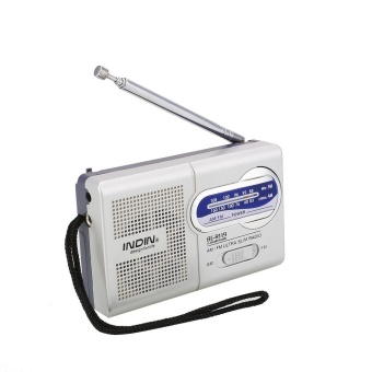 Harga Portable Pocket AM/FM 2 Band Telescopic Antenna Speaker Radio World Receiver - intl