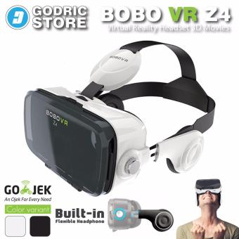 Harga BOBOVR Z4 VR With Headphone 3D Virtual Reality Google Cardboard Glass - Putih