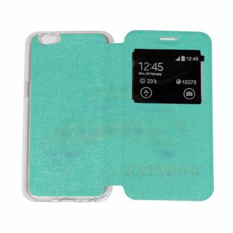 Ume Phone Cover For Advan Vandroid I5e Flip Shell Silicone Leather Faux Case Navy - Page