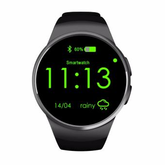 Harga kw18 smart watch sim android wear Smart Electronics Sports Wristwatch(Black) - intl