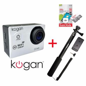 Harga Kogan Wifi 12MP [Paket] Action Camera + Memory Sandisk 16Gb Class 10 + Monopod Attanta SMP-07