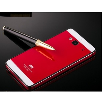 Harga Hardcase Aluminium Tempered Glass Series For Xiaomi Redmi 2s - Red