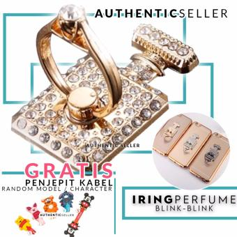Harga Authentic Luxury Iring Blink Blink Perfume Bottle Ring Grip Stand Smartphone Gratis Penjepit Kabel Karakter