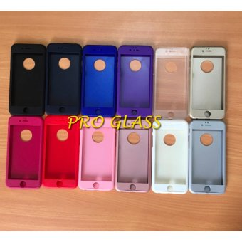 OEM 360 FULL PROTECTION CASE IPHONE 6 6S WITH TEMPERED GLASS MERAH ✓