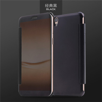 Harga Smart Sleep Mirror Leather Case Cover For Oppo F1 Plus / Oppo R9 (Black) - intl