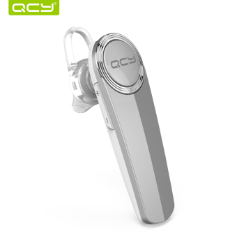 Harga QCY Q8 Ear Hook 3D Stereo Call Bluetooth Wireless Mini Earphone with Mic for iPhone Android Phone – Silver (Chinese only)