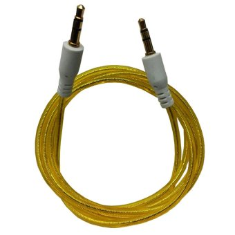 Harga Audio Kabel AUX Jack 3.5mm Audio to Audio High Quality - Male to Male - Kuning