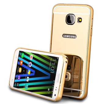 Harga Case For Samsung Galaxy J1 Mini Bumper Slide Mirror - Gold