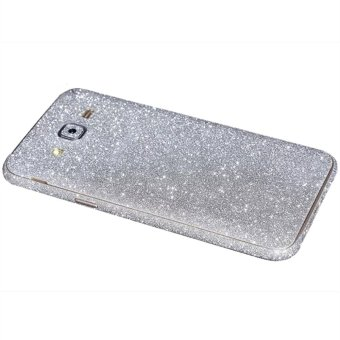 Harga Dull Polish Rhinestone Diamond Shining Bling Full Body Skin Sticke Front Back Glitter Cover Film for Samsung GALAXY J5 (Silver)