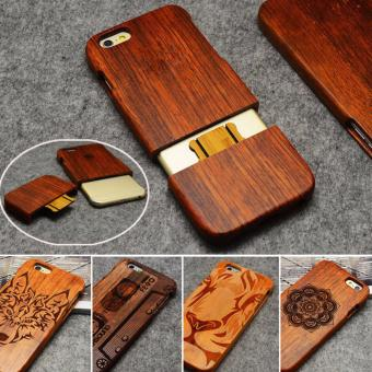 Harga LYBALL 100% Handmade Real Bamboo Wooden Wood Case cover for iPhone 6 6s Plus - intl