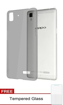 Harga Softcase Ultrathin for OPPO R7 - Black clear + Free Tempered Glass